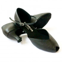 R343  Absatz 50G  Größe 41,5  Leder schwarz und Lackleder schwarz C01