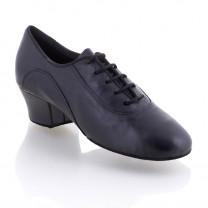 R377 Tanzschuhe Damen Training und Herren Latein Leder schwarz