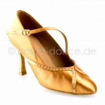 R390 Damen Standard Tanzschuhe Satin haut Absatz 70N Größe 36,5 A01