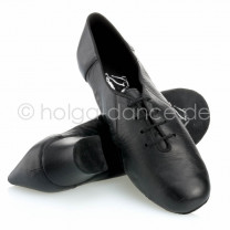 Herren Latein Tanzschuhe  Leder schwarz Absatz 45 Größe 41,5 geteilte Sohle (split sole) C06