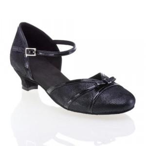 R322 Tanzschuhe mit Comfort Absatz Lackleder schwarz Leder schwarz Diva Absatz 40G Größe 37 C01