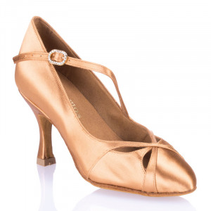 R397 Damen Standardschuhe Satin haut