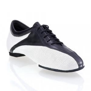 SKY - rummos dance sneaker - gelochtes Leder weiß / Leder schwarz