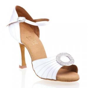 CLEOPATRA Damen Tanzschuhe Satin weiß Absatz 60R Größe 36 C05