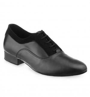 RICARDO Herren Tanzschuhe Leder schwarz Nubukleder schwarz