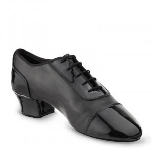 TRIUMPH Herren Latein Tanzschuhe Leder schwarz Lackleder schwarz Absatz 45 Größe 39 geteilte Sohle (split sole) E04