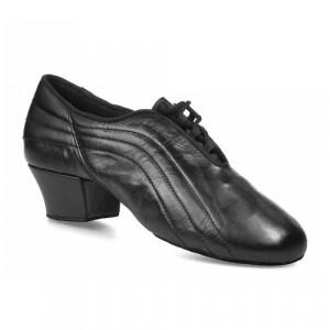 ZEUS Herren Latein Tanzschuhe mit geteilter Sohle Leder schwarz geteilte Sohle (split sole)