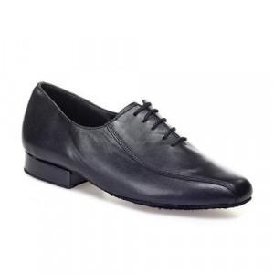 R313 Herren Tanzschuhe Leder schwarz Absatz 25M Größe 39,5 E03