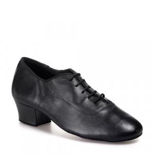 R316 Herren Tanzschuhe Leder schwarz Absatz 45 Größe 42 B02