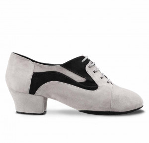 R607 Damen Trainingsschuhe Nubukleder schwarz Nubukleder grau geteilte Sohle (split sole)