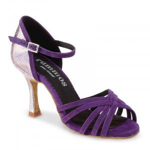MARYLIN Damen Tanzschuhe Nubukleder purple Spiegel Leder Absatz 70N Größe 37 A01
