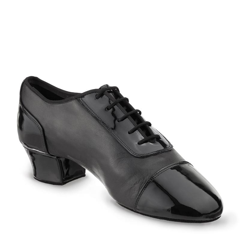 TRIUMPH Herren Latein Tanzschuhe Leder und Lackleder schwarz geteilte Sohle (split sole)