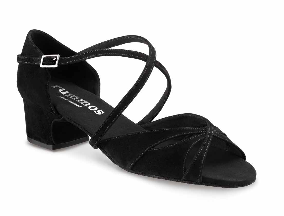 LOLA Damen Tanzschuhe Nubukleder schwarz Absatz 20 Größe 42