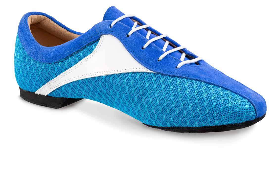 Sky SKY sehr leichter und flexibler Trainingsschuh mit geteilter Sohle für Herren und Damen Leder weiß Nubukleder blau Stoff blau geteilte Sohle (split sole)